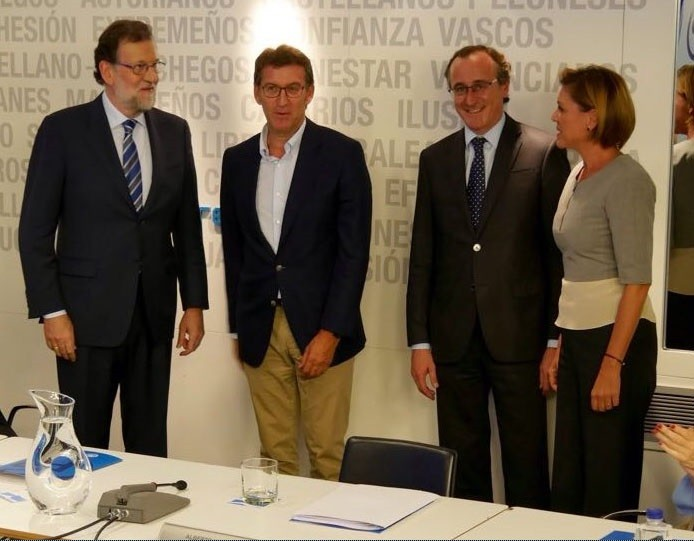 Rajoy, Feijóo, Cospedal e Alonso no Comité Executivo Nacional do PP